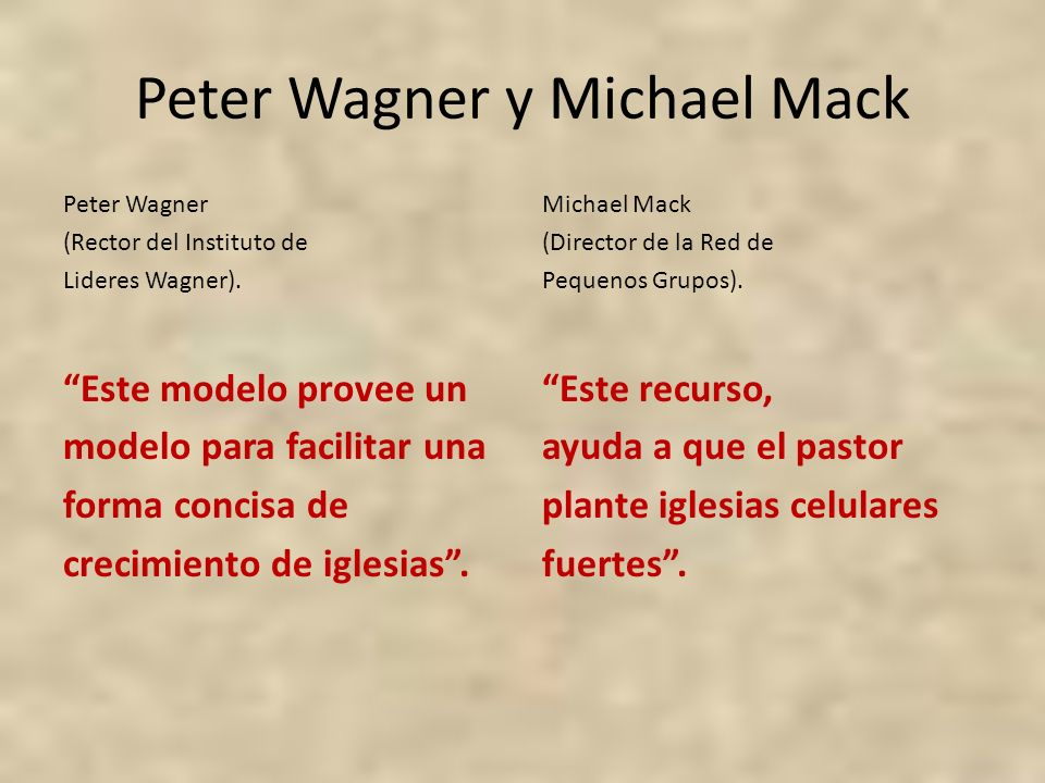 Peter Wagner y Michael Mack
