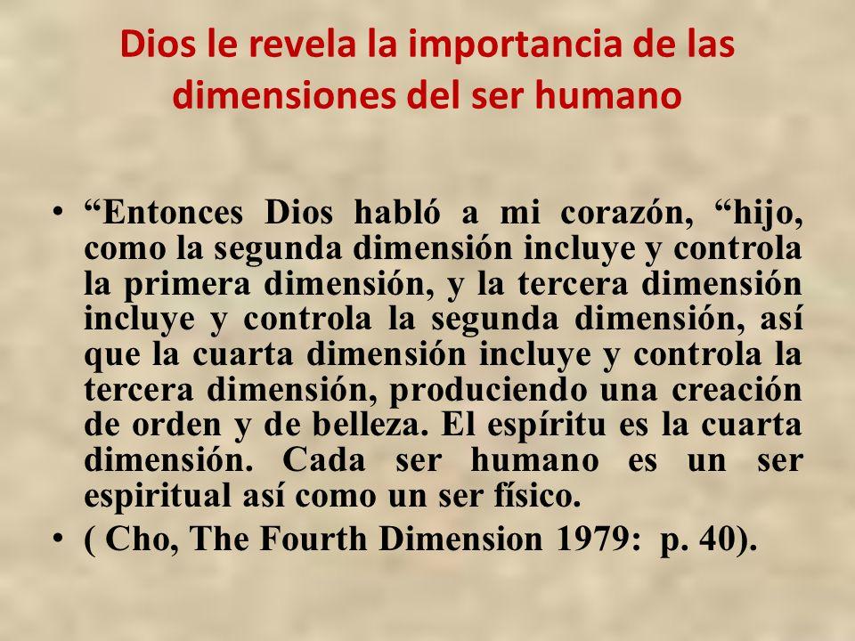 Dios le revela la importancia de las dimensiones del ser humano