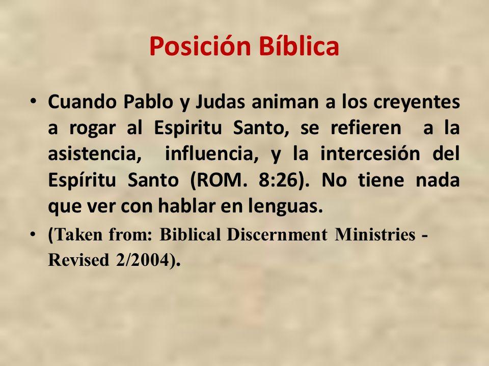 Posición Bíblica
