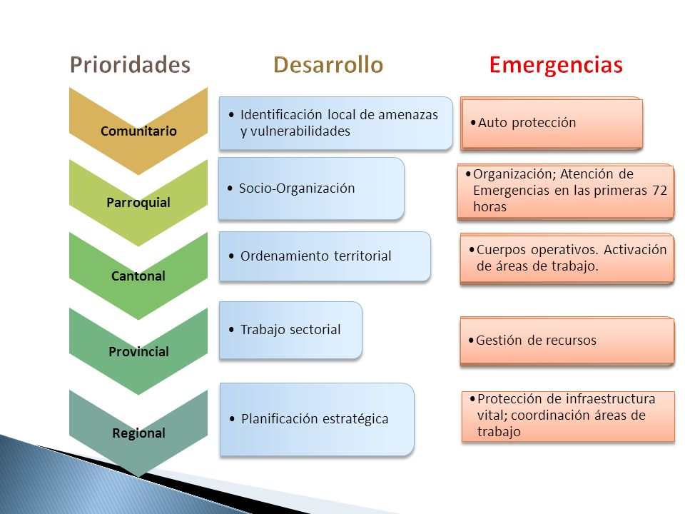 Prioridades Desarrollo Emergencias