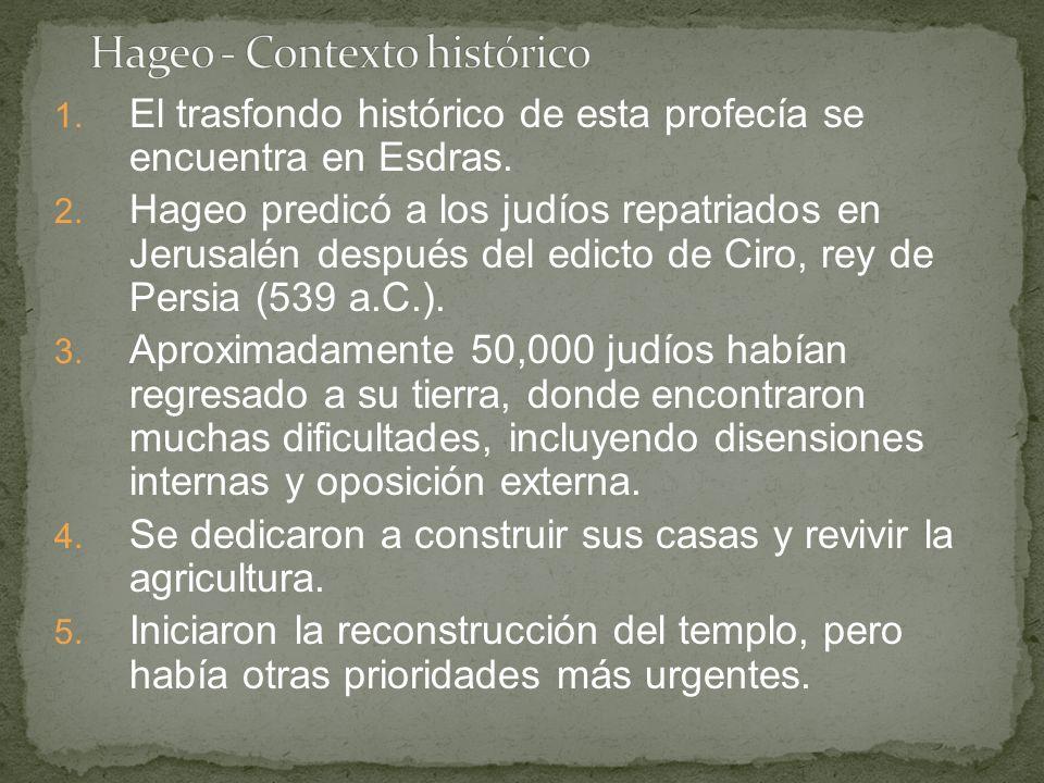 Hageo - Contexto histórico