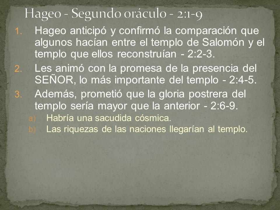 Hageo - Segundo oráculo - 2:1-9
