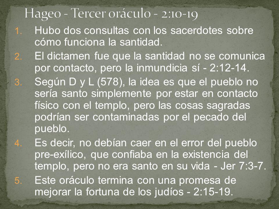 Hageo - Tercer oráculo - 2:10-19