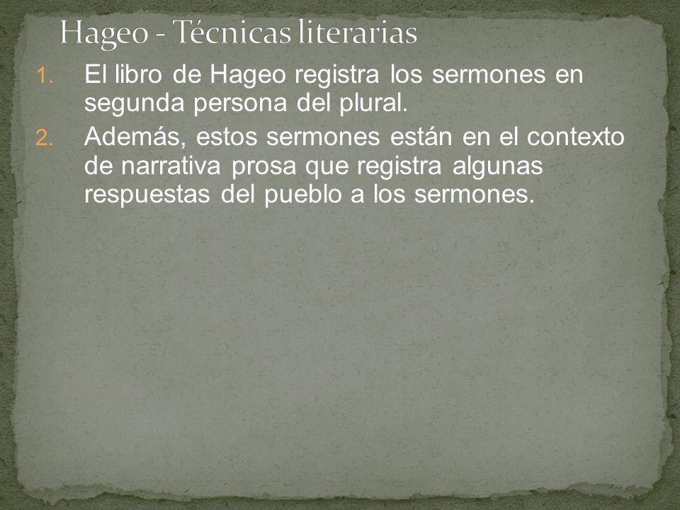 Hageo - Técnicas literarias