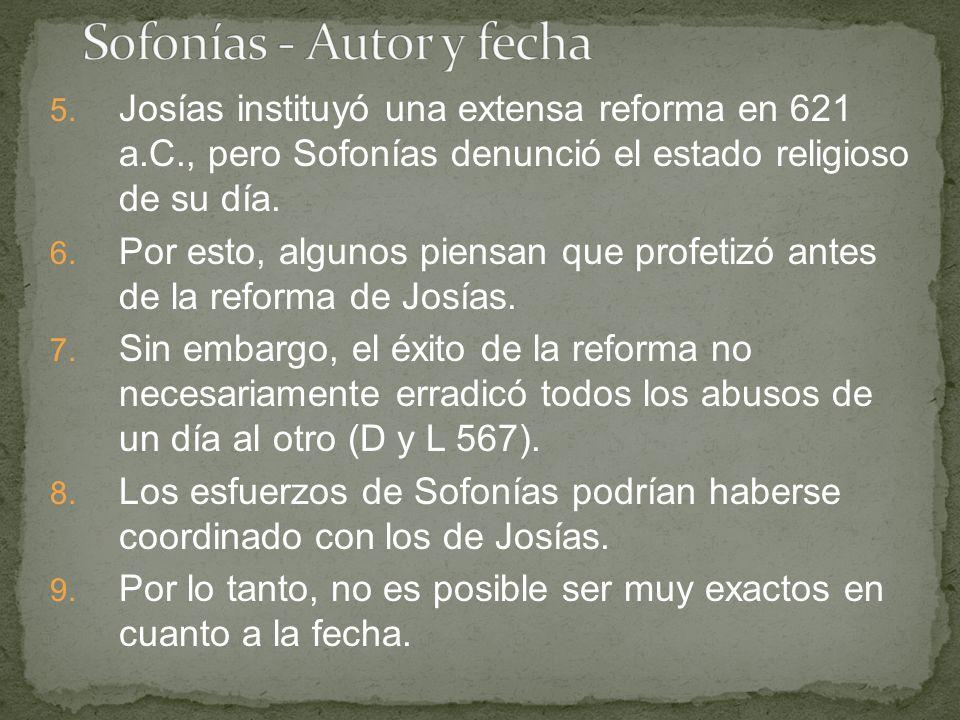 Sofonías - Autor y fecha