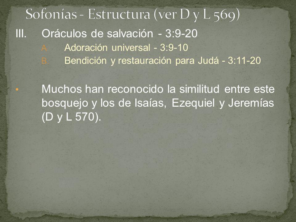 Sofonías - Estructura (ver D y L 569)