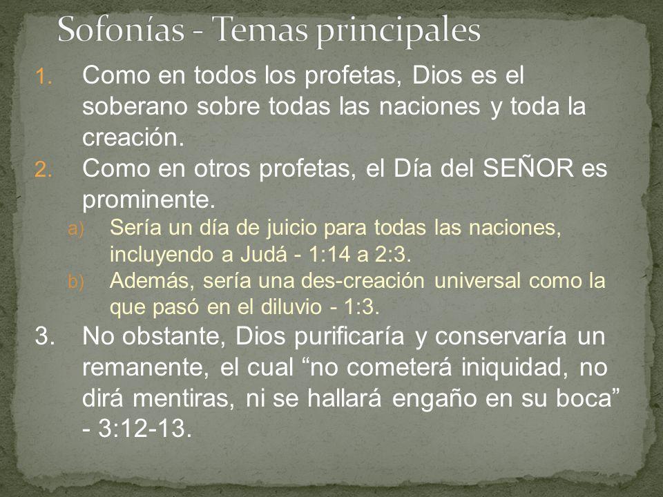 Sofonías - Temas principales
