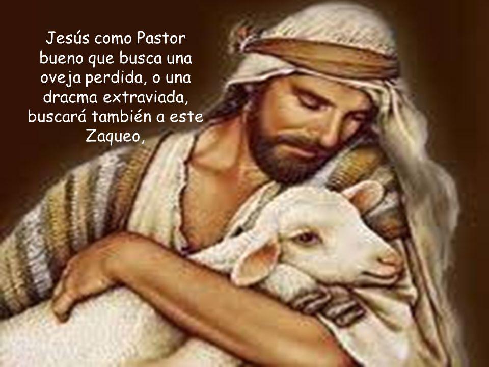 Jesús como Pastor bueno que busca una oveja perdida, o una dracma extraviada, buscará también a este Zaqueo,