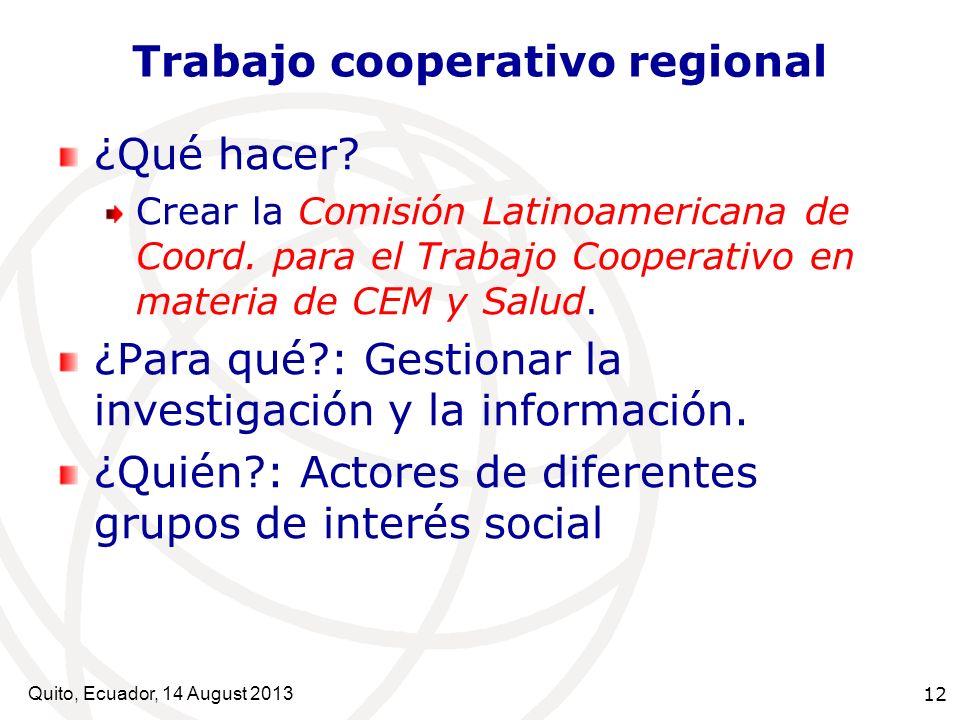 Trabajo cooperativo regional