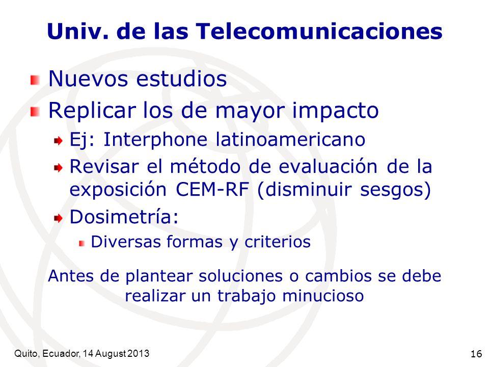 Univ. de las Telecomunicaciones