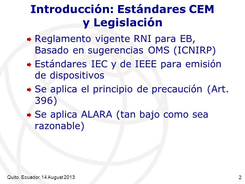 Introducción: Estándares CEM y Legislación
