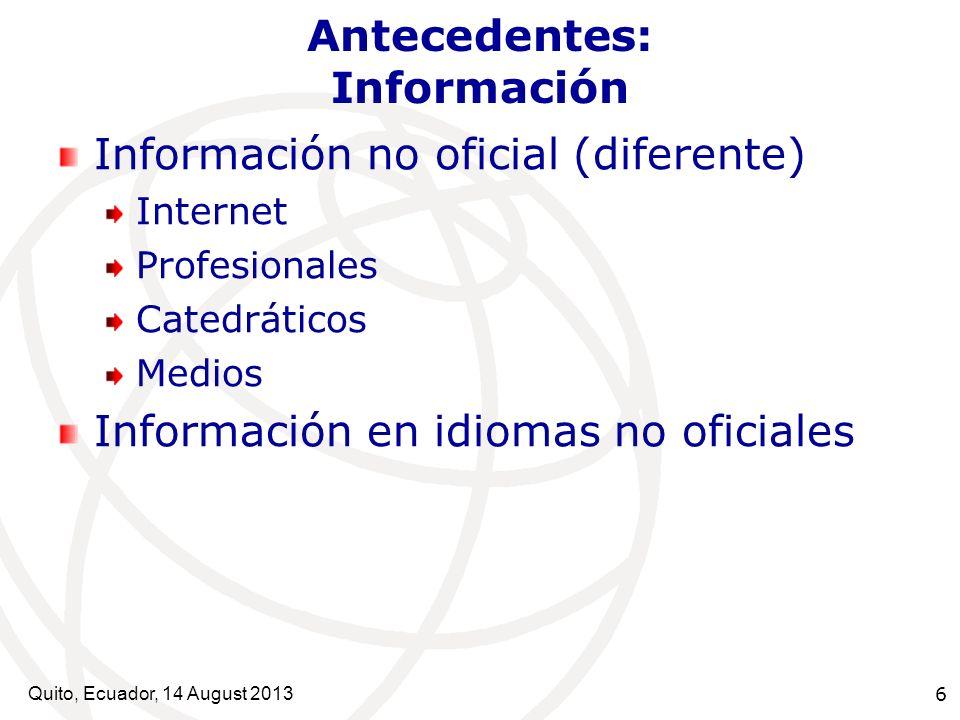 Antecedentes: Información