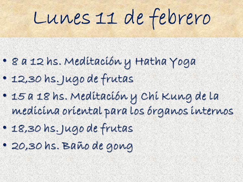 Lunes 11 de febrero 8 a 12 hs. Meditación y Hatha Yoga