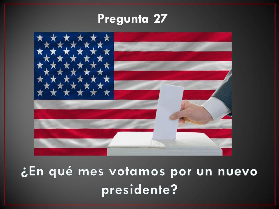 ¿En qué mes votamos por un nuevo presidente