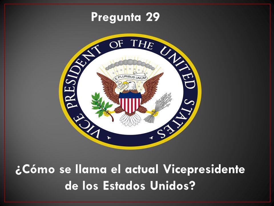 ¿Cómo se llama el actual Vicepresidente de los Estados Unidos