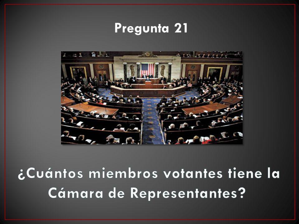 ¿Cuántos miembros votantes tiene la Cámara de Representantes