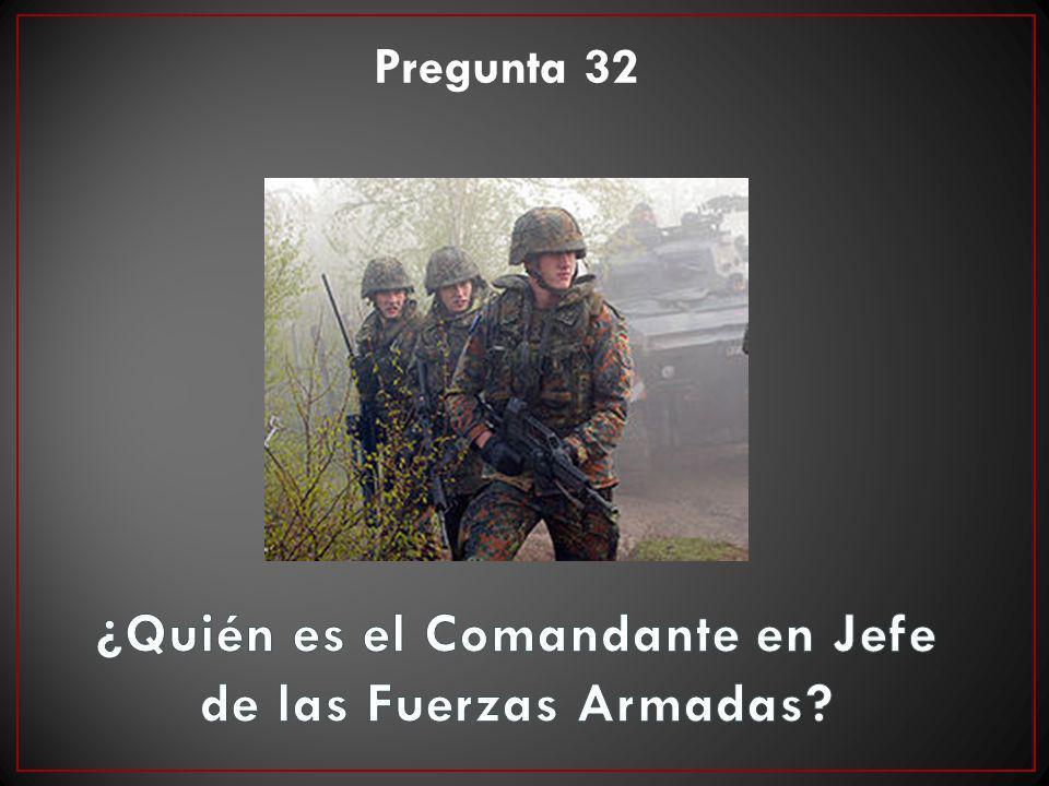 ¿Quién es el Comandante en Jefe de las Fuerzas Armadas