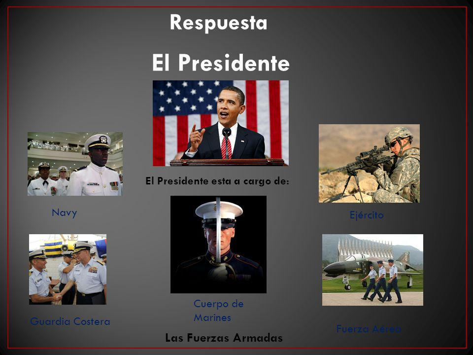 El Presidente esta a cargo de: