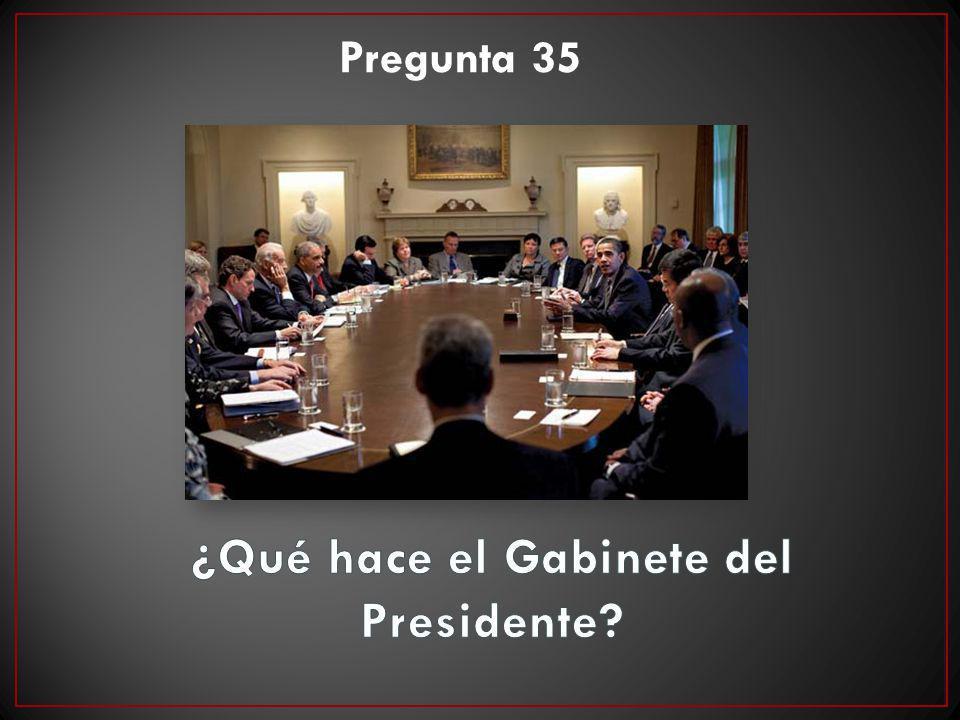 ¿Qué hace el Gabinete del Presidente