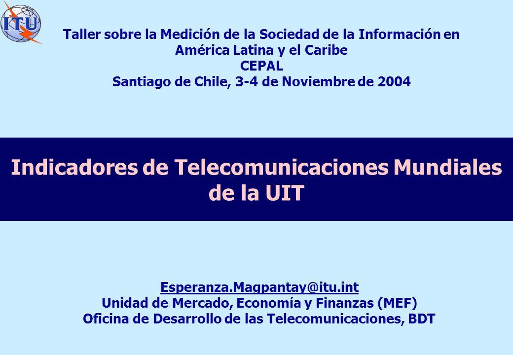 Indicadores de Telecomunicaciones Mundiales de la UIT