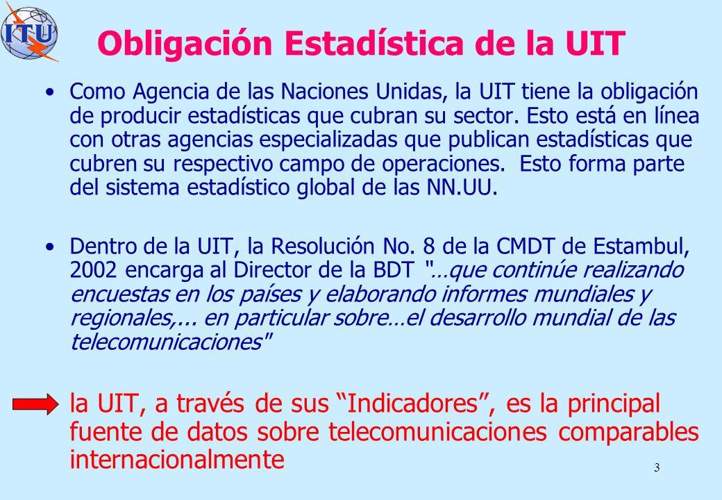 Obligación Estadística de la UIT