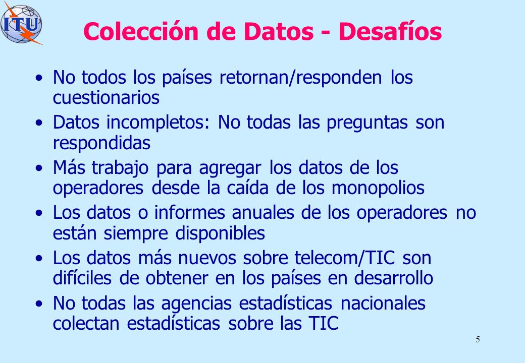 Colección de Datos - Desafíos
