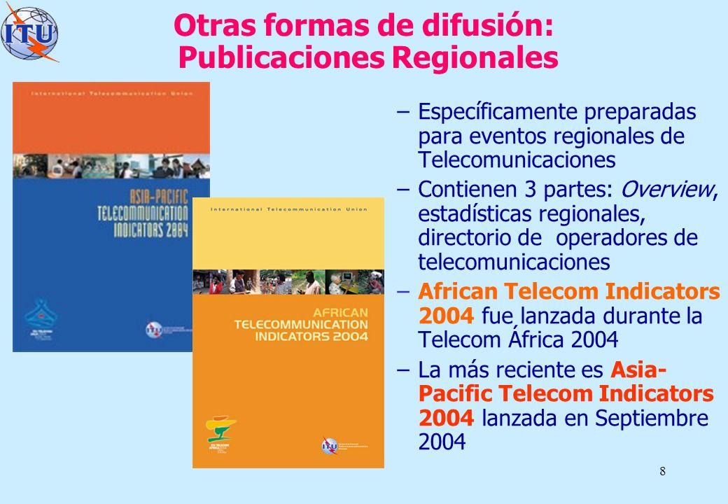 Otras formas de difusión: Publicaciones Regionales