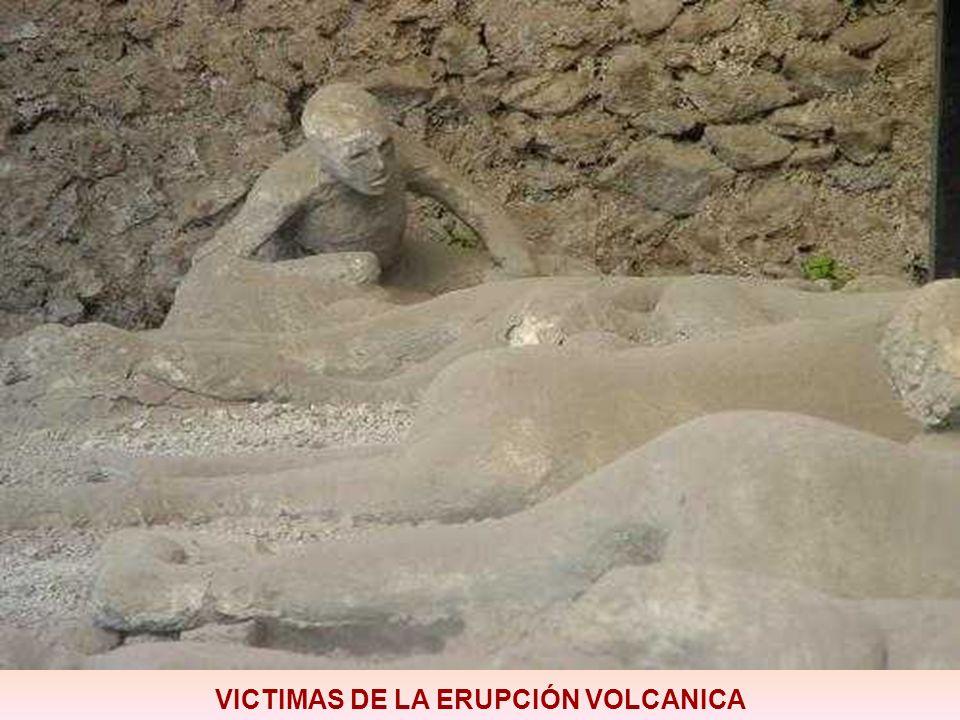 VICTIMAS DE LA ERUPCIÓN VOLCANICA