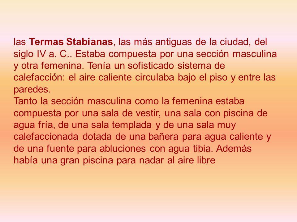 las Termas Stabianas, las más antiguas de la ciudad, del siglo IV a. C