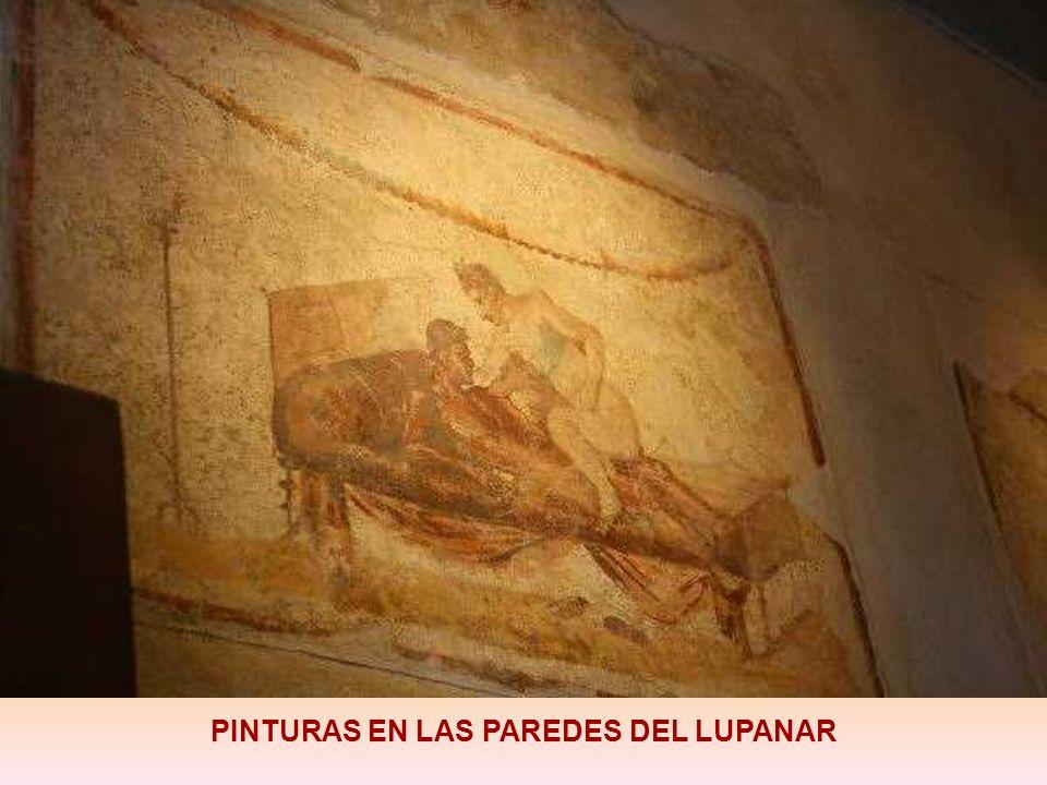 PINTURAS EN LAS PAREDES DEL LUPANAR