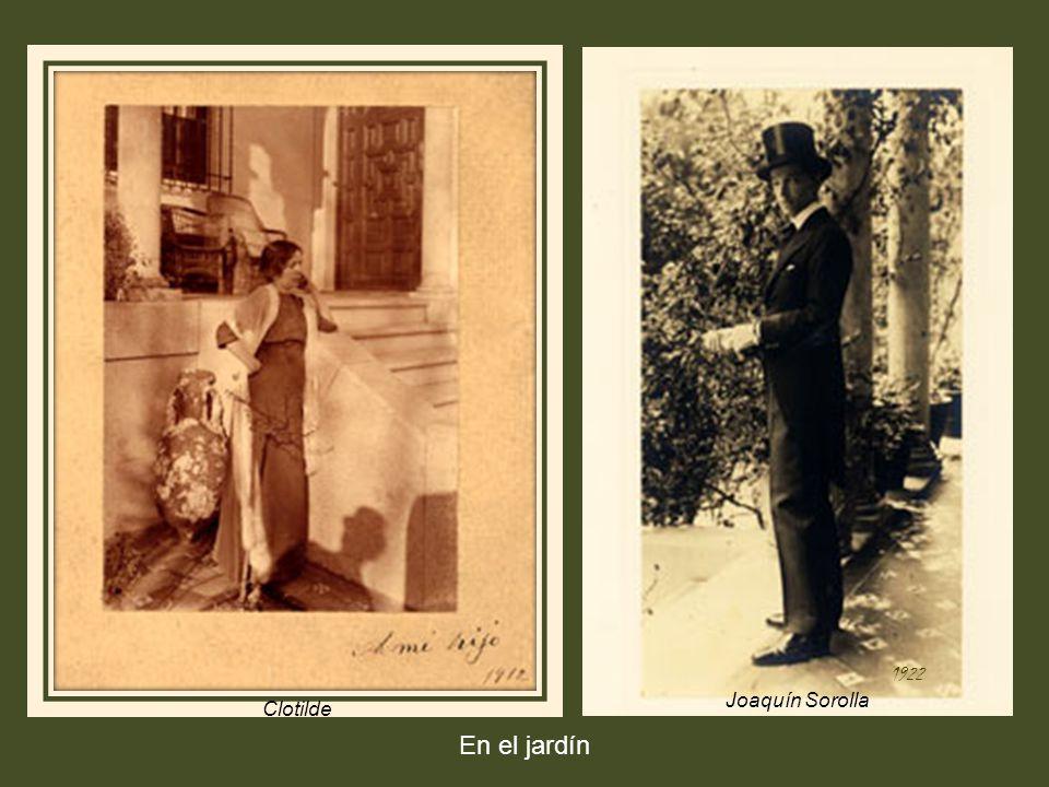 1922 Joaquín Sorolla Clotilde En el jardín