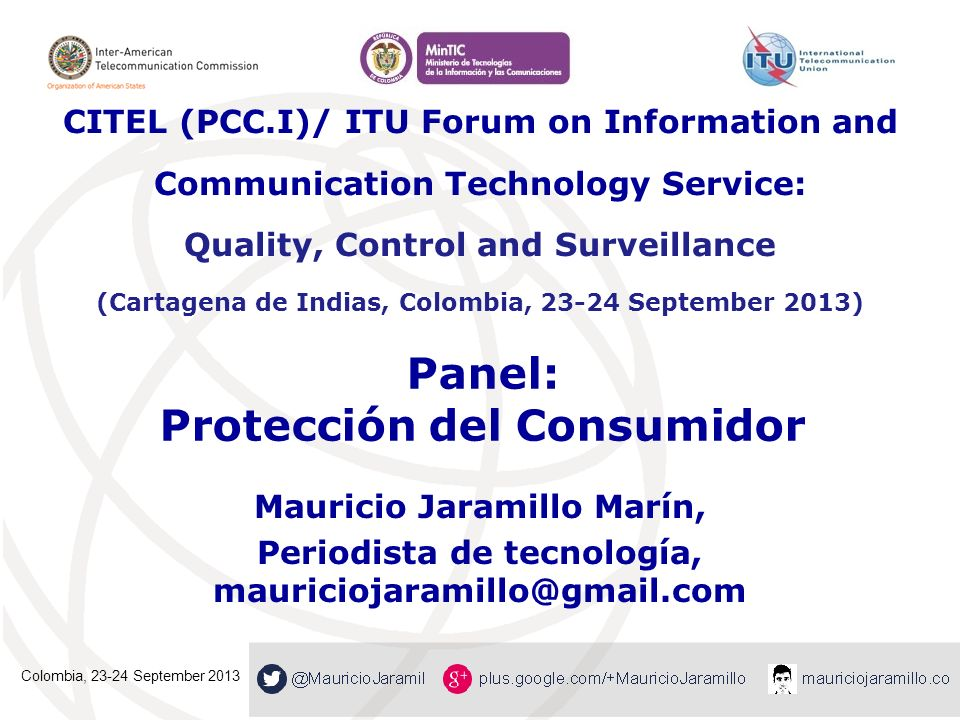 Panel: Protección del Consumidor