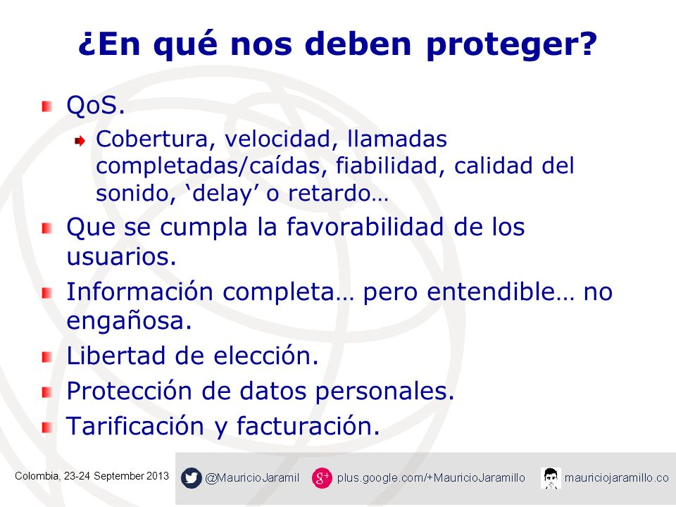 ¿En qué nos deben proteger