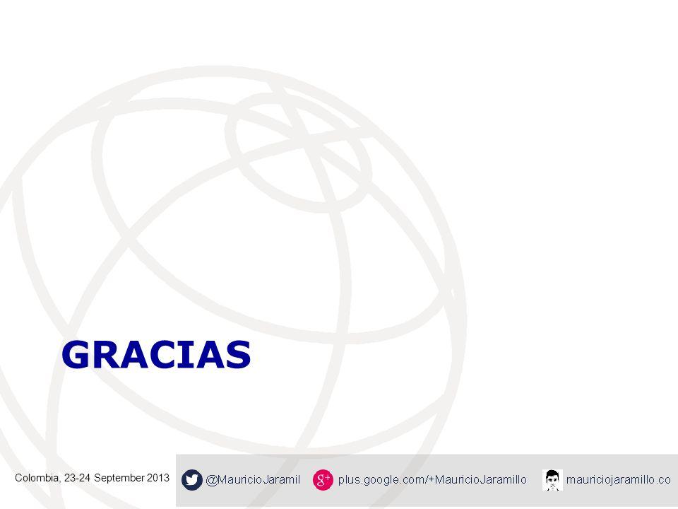 Gracias Colombia, 23-24 September 2013