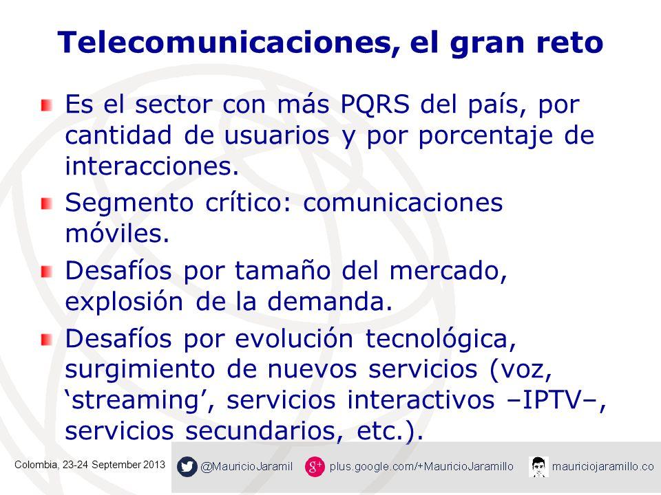 Telecomunicaciones, el gran reto