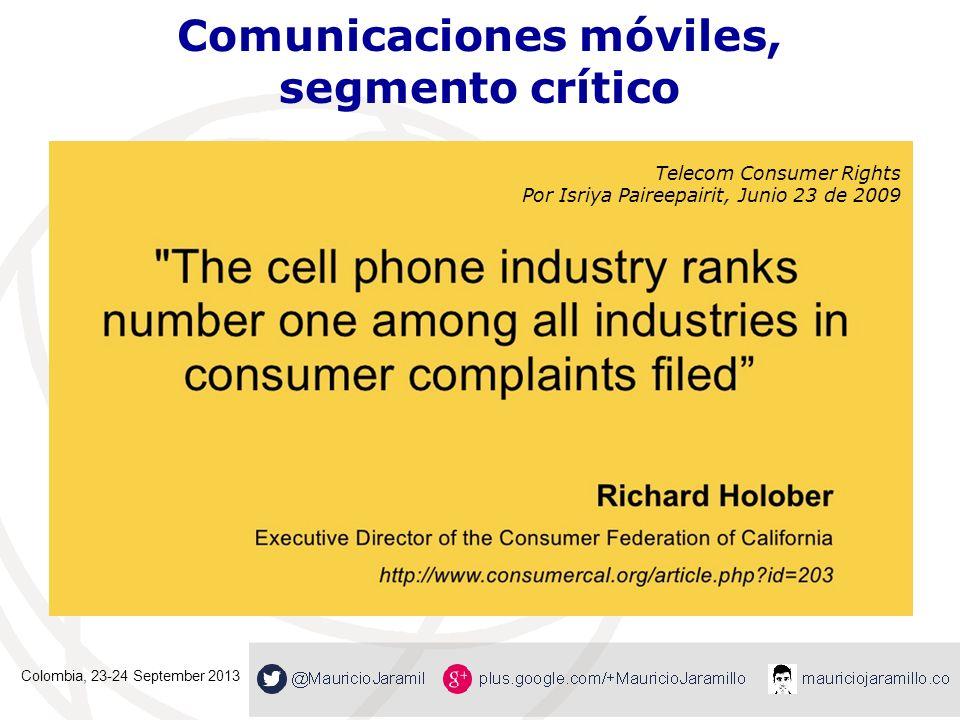 Comunicaciones móviles, segmento crítico