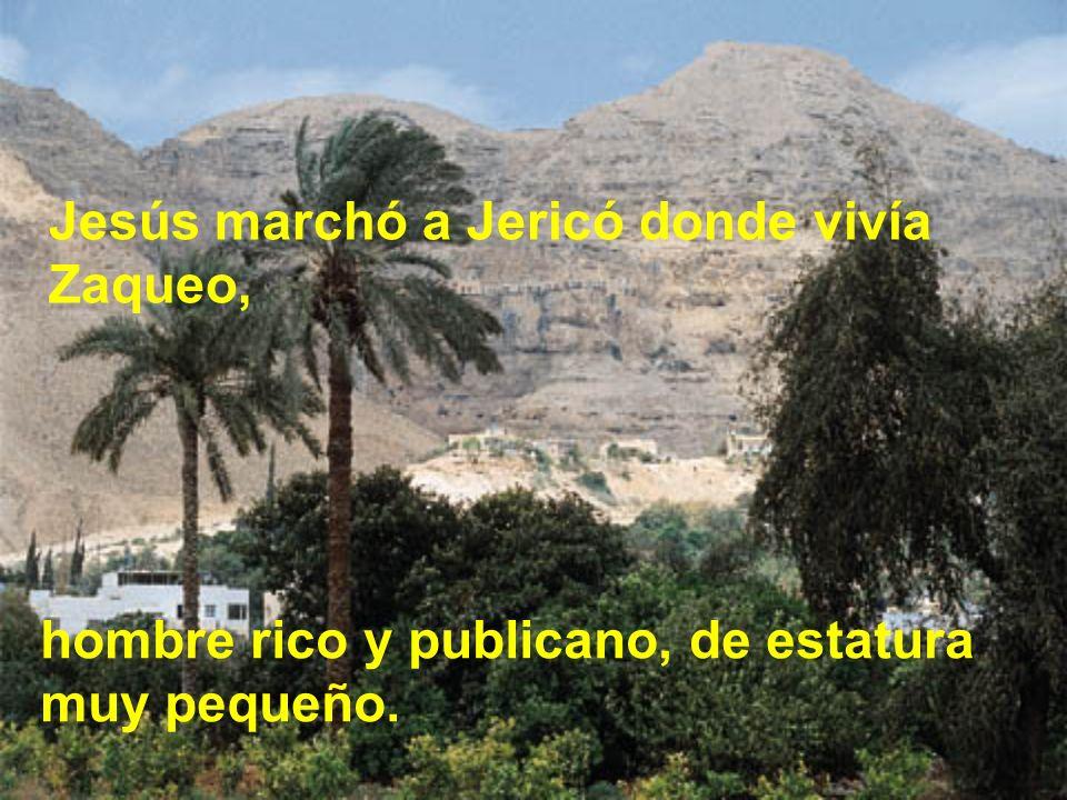 Jesús marchó a Jericó donde vivía Zaqueo,