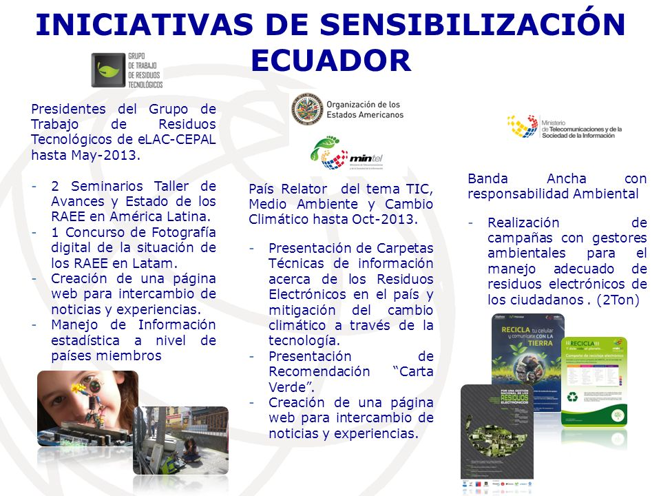 INICIATIVAS DE SENSIBILIZACIÓN ECUADOR