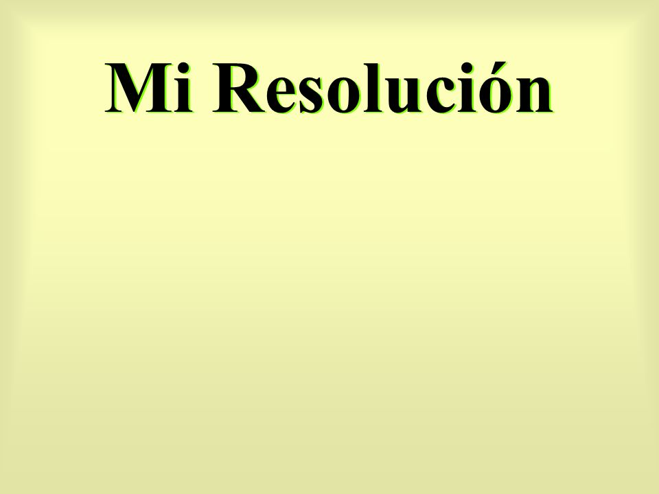 Mi Resolución