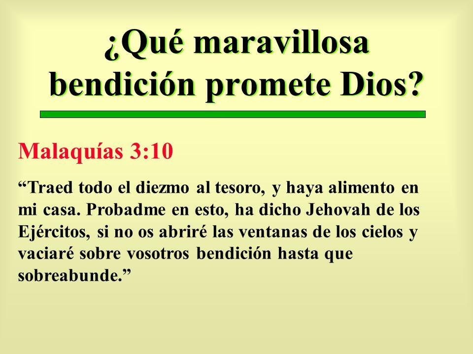 ¿Qué maravillosa bendición promete Dios
