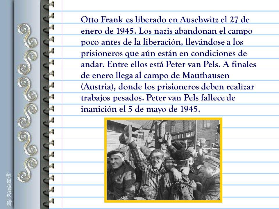 Otto Frank es liberado en Auschwitz el 27 de enero de 1945