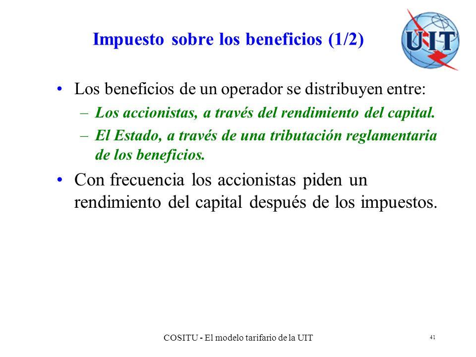 Impuesto sobre los beneficios (1/2)