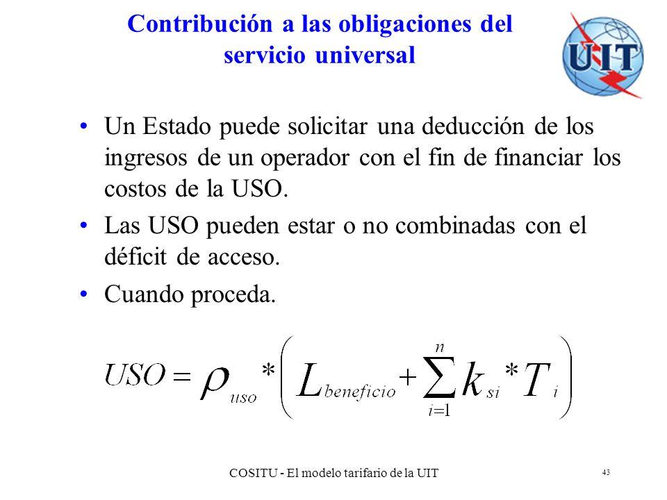 Contribución a las obligaciones del servicio universal