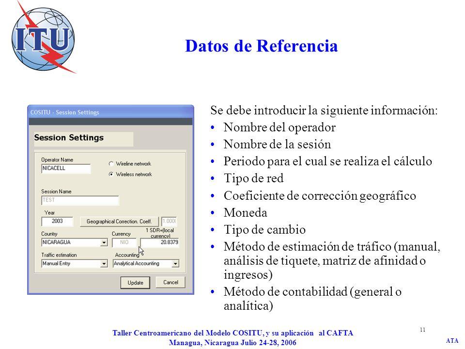 Datos de Referencia Se debe introducir la siguiente información: