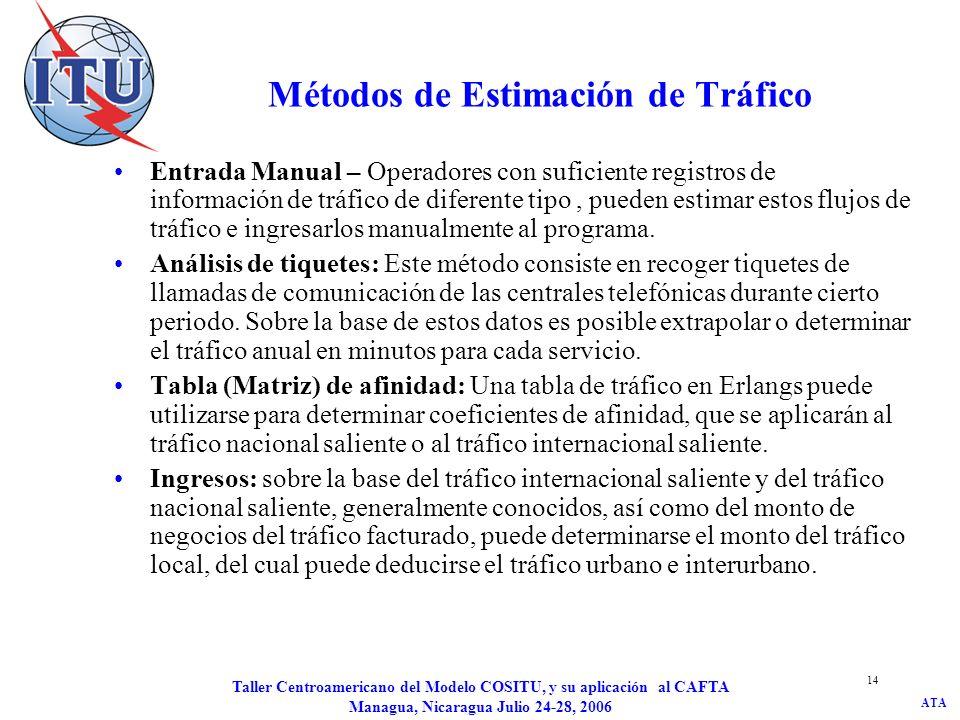 Métodos de Estimación de Tráfico