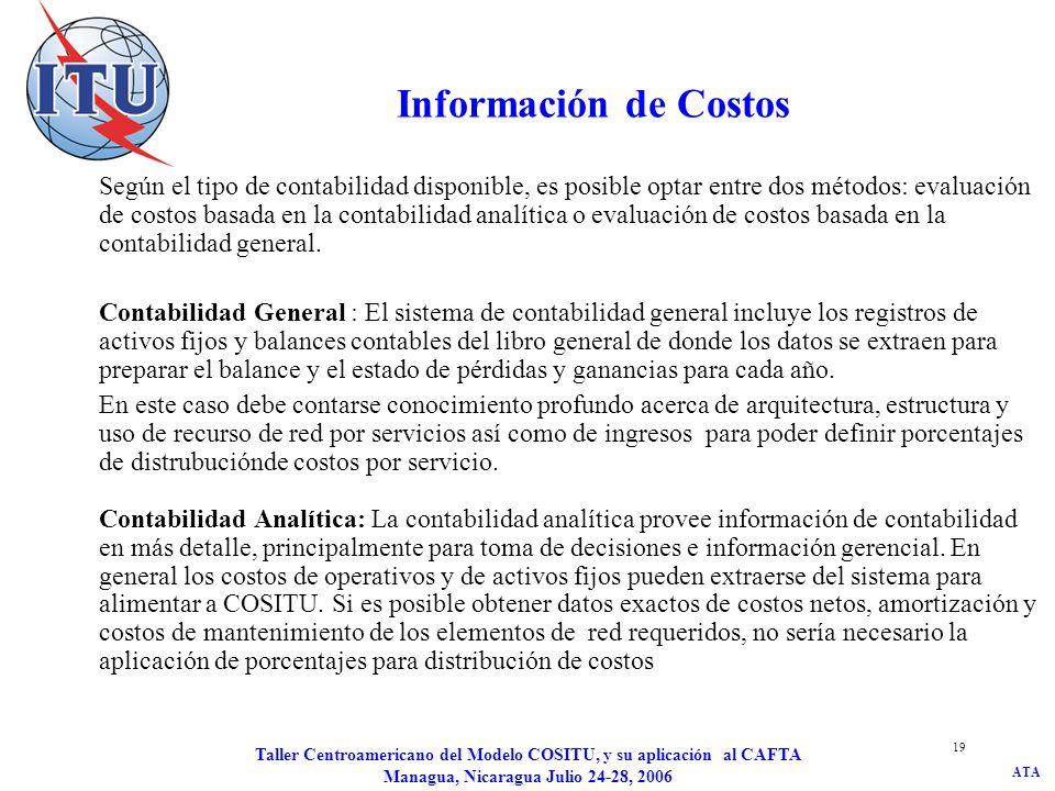 Información de Costos