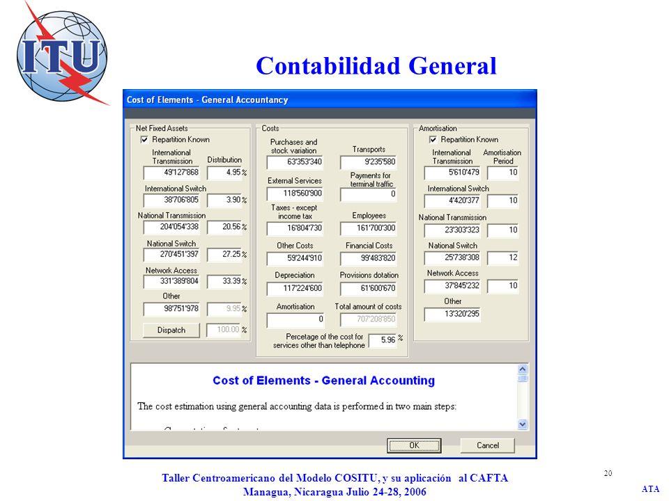 Contabilidad General Taller Centroamericano del Modelo COSITU, y su aplicación al CAFTA Managua, Nicaragua Julio 24-28, 2006.