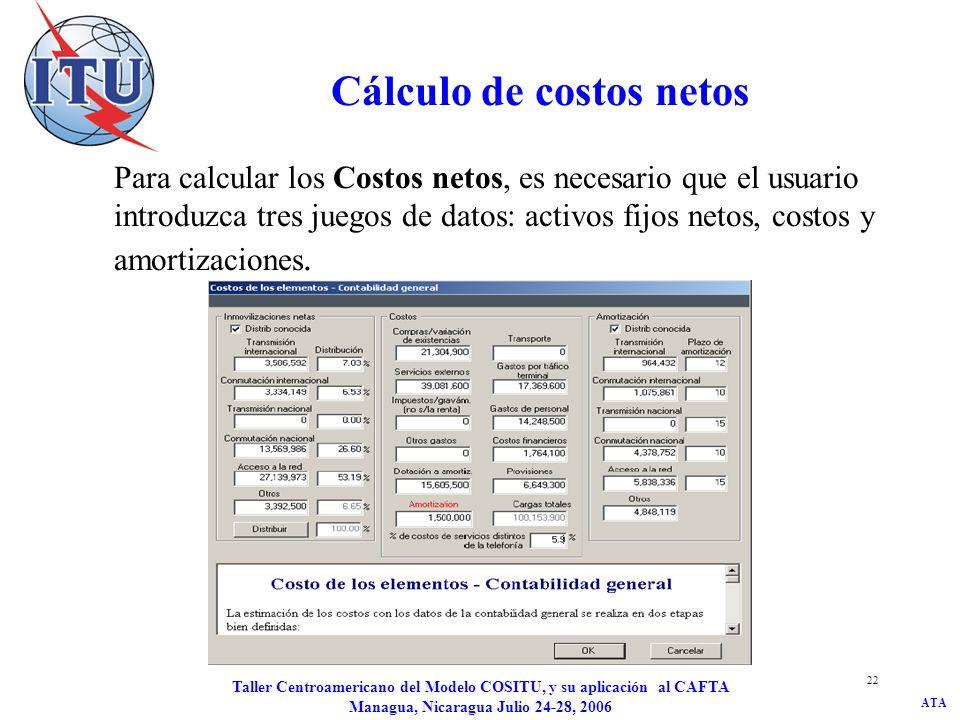 Cálculo de costos netos