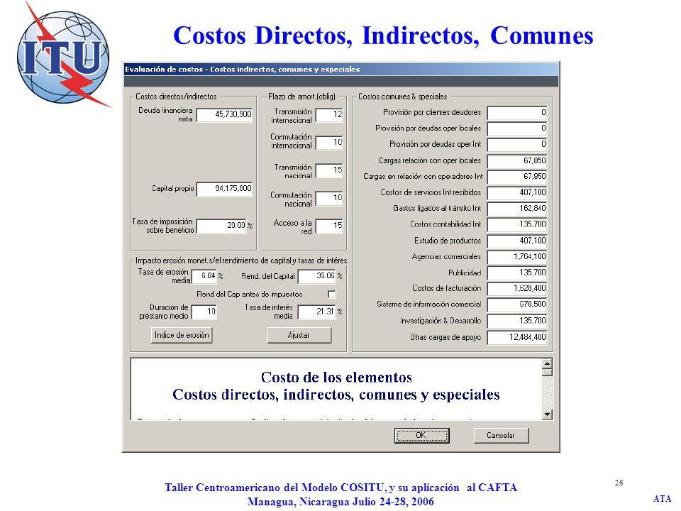Costos Directos, Indirectos, Comunes y Especiales