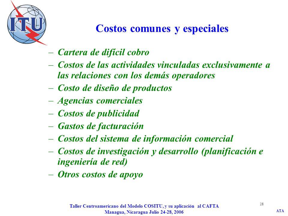 Costos comunes y especiales
